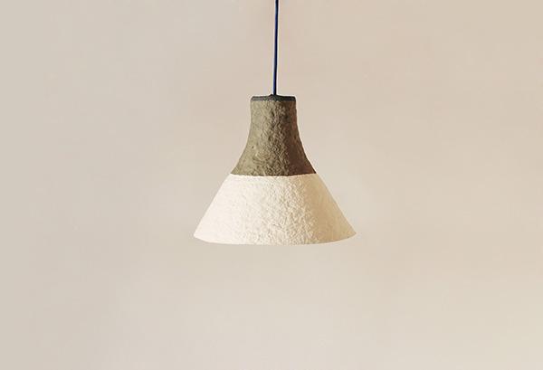 Paper mache lamp cypisek eco design for Make paper mache lamp shade