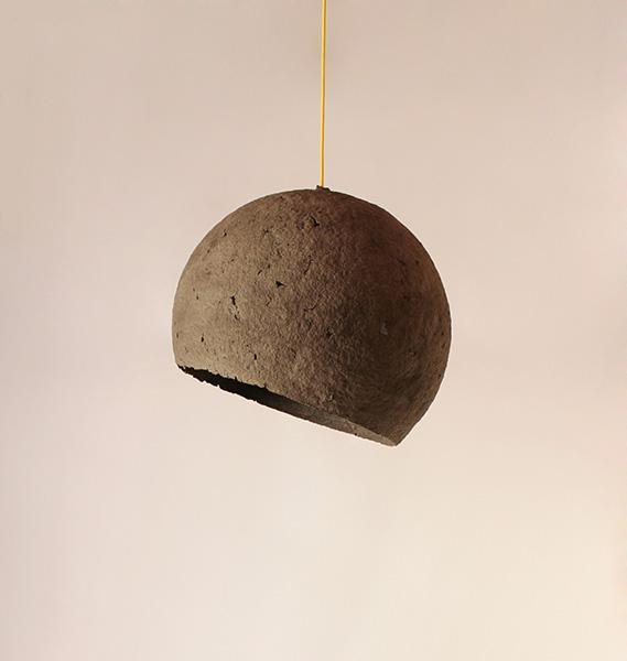 Paper Pulp Lamp Luna Crea Eco Design
