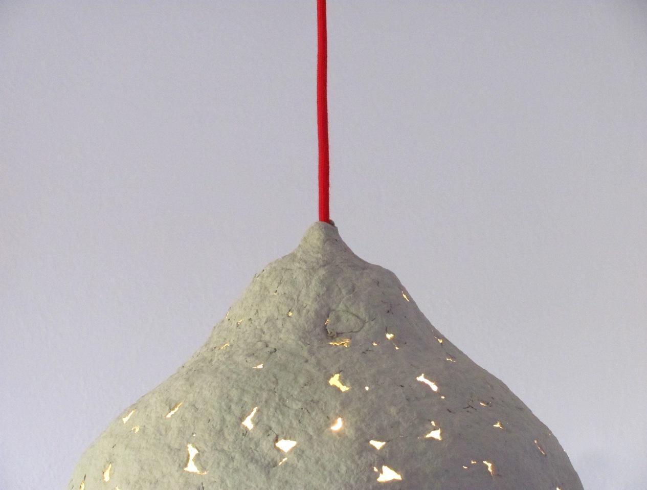 Calyx Of Flower I Paper Pulp Pendant Lamp Crea Eco Design Crea Re