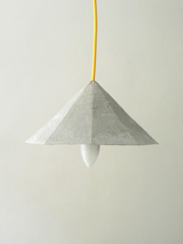 """""""Crystals II"""" – paper pulp pendant lamps"""