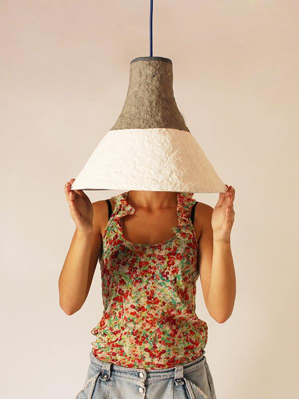 Paper mache lamp Cypisek