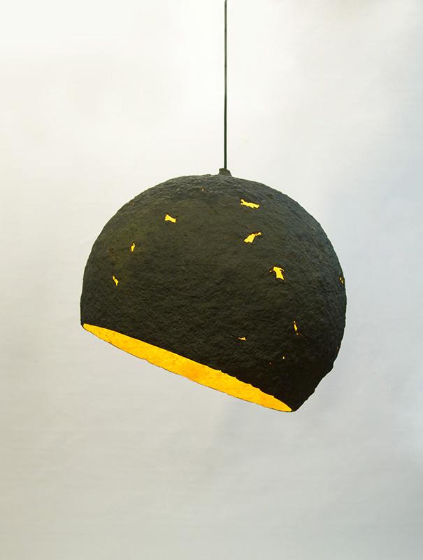 Paper mache lamp Terra