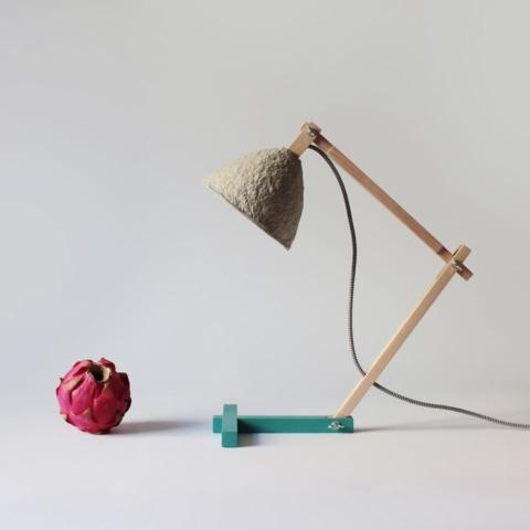 Paper mache table lamp Metamorfozis