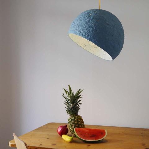 Pendant lamp Globe Blue