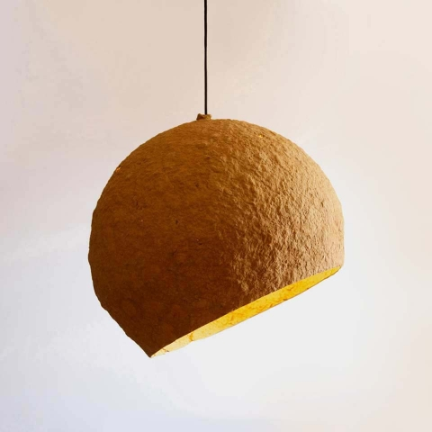 Paper mache lamp Jupiter
