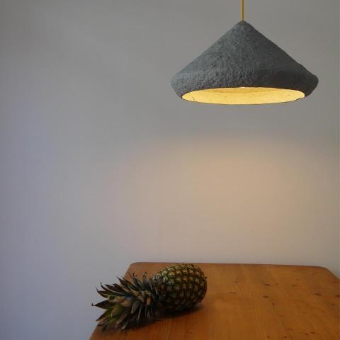 Paper pulp lamp Mizuko II