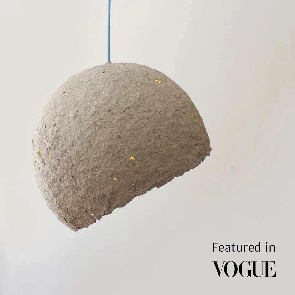 Paper mache lamp Globe