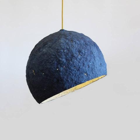 Paper mache lamp Pluto,