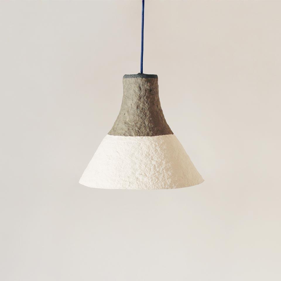 Paper pulp lamp Cypisek
