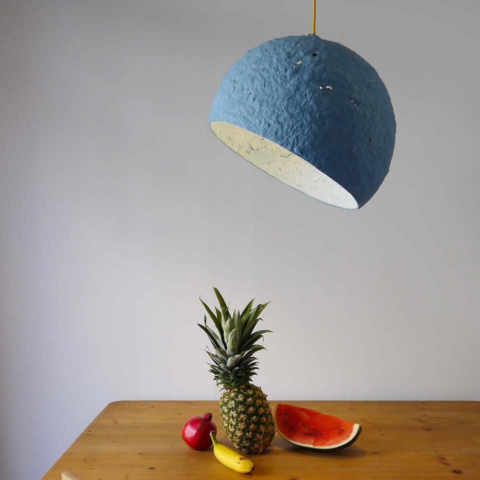 Pulp lamp Globe Blue