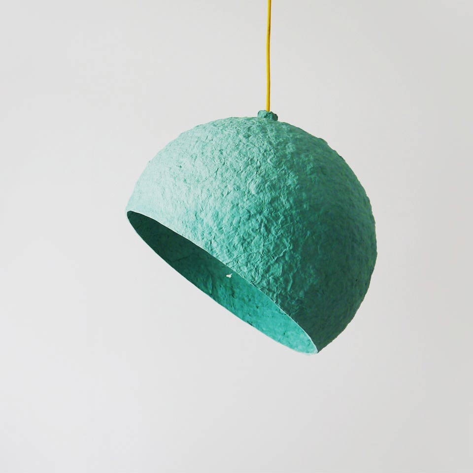 Pulp lamp Globe Turquoise