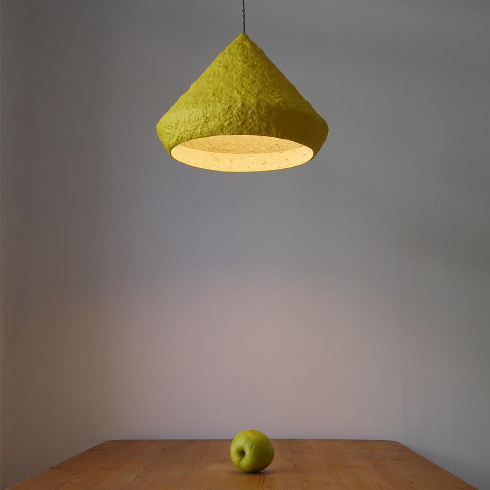 Pulp lamp Mizuko Yellow