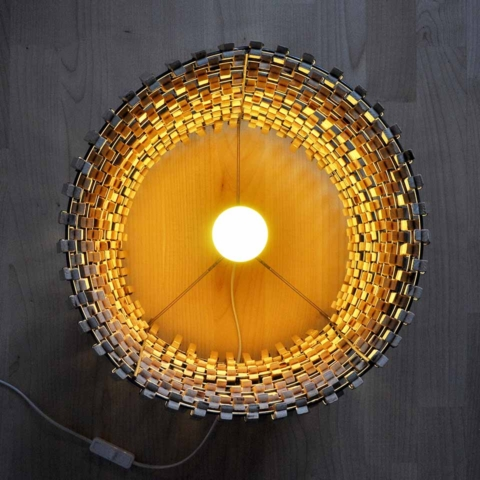 Wooden clothespins lamps 7