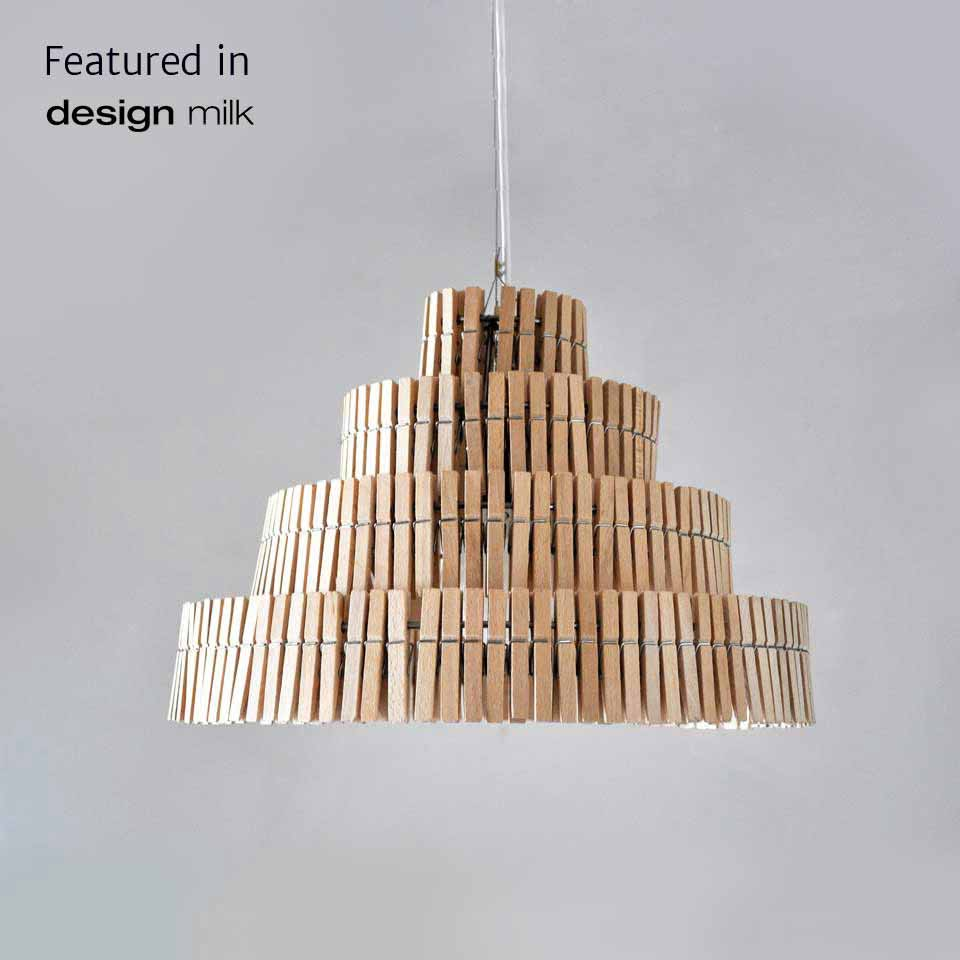 Clothespins pendant lamp
