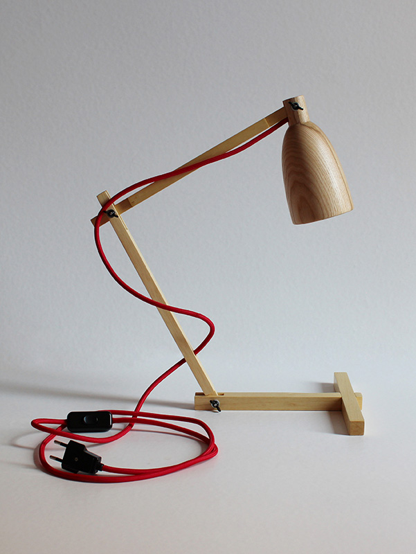 "Wooden table lamp ""Fingerprint II"""