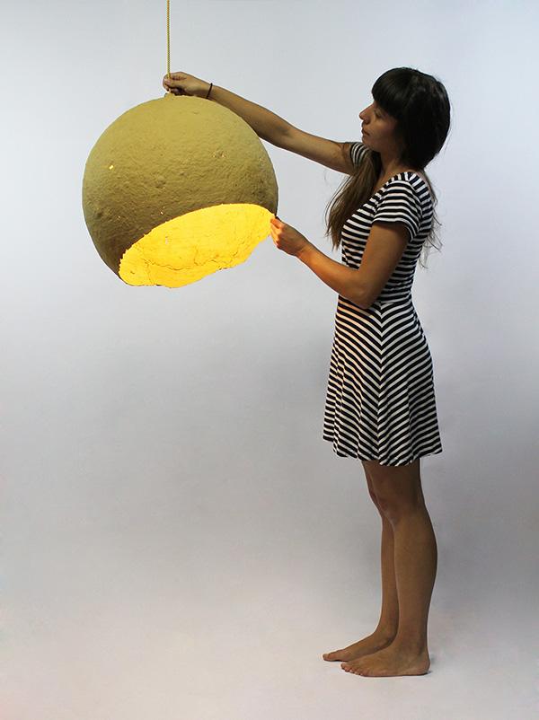 """Jupiter"" paper pulp lamp"