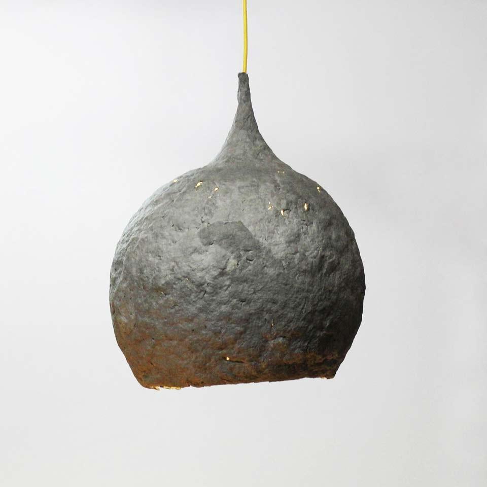 Paper mache lamp Drop