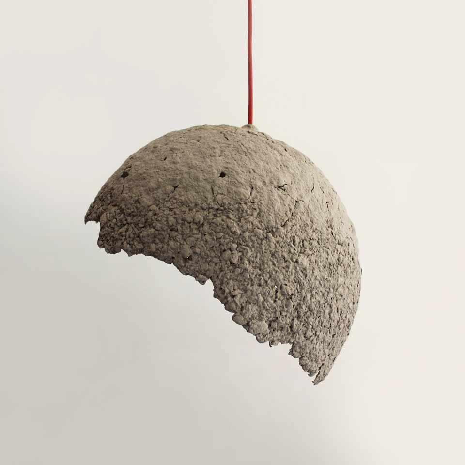 Paper mache hanging lamp Globe