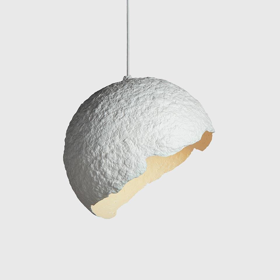 Paper Lamp Globe Blanco