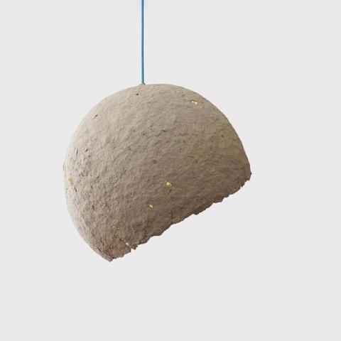 Paper mache Globe lamp