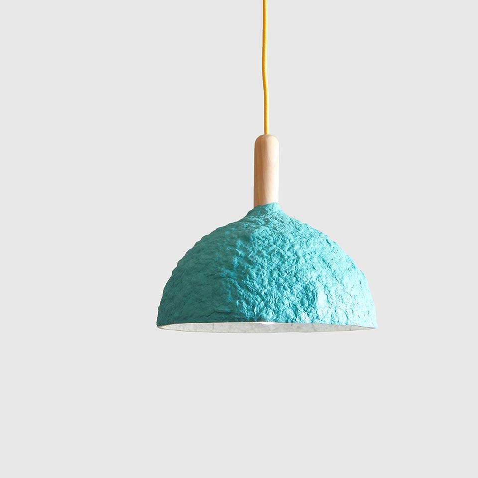 Paper mache lamp Bell