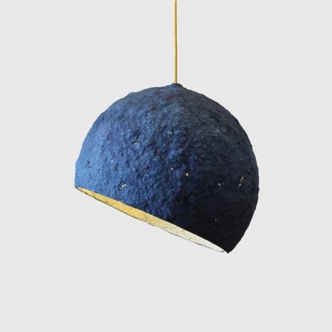 Paper mache lamp Pluto