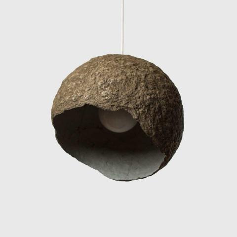 Paper Mache Light Shade Globe