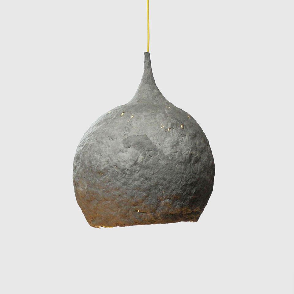 Paper pulp lamp Drop