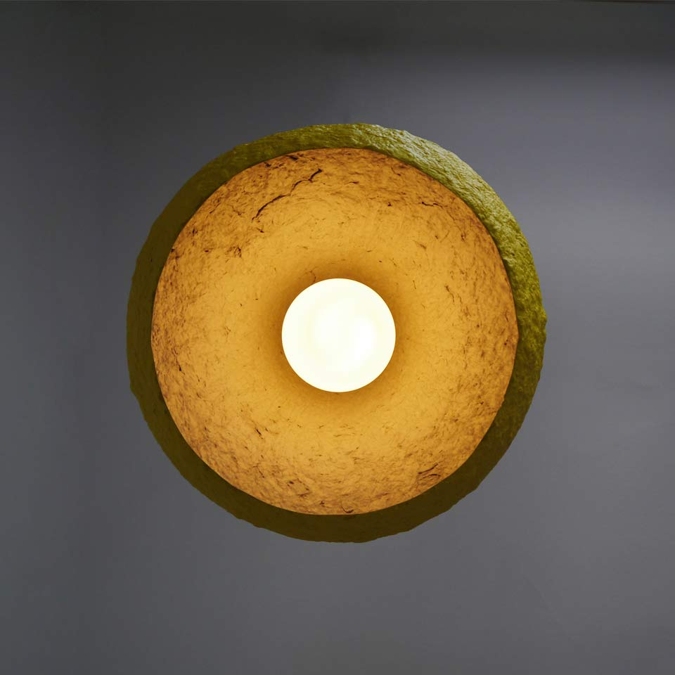 Paper Mache Lamp Mizuko Yellow Crea Re Com Eco Design