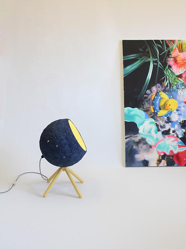 Paper pulp floor lamp Pluto